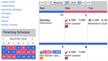 free custody calendar access is included with your ofw subscription.