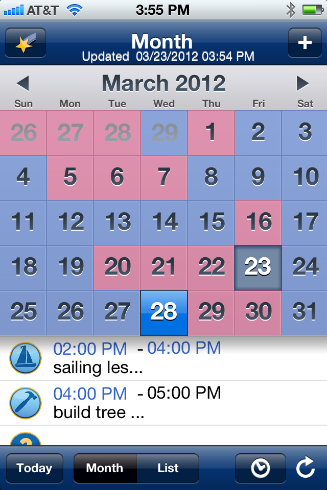 the ourfamilywizard custody calendar on the iphone app is the best way to get your mobile child custody schedule.