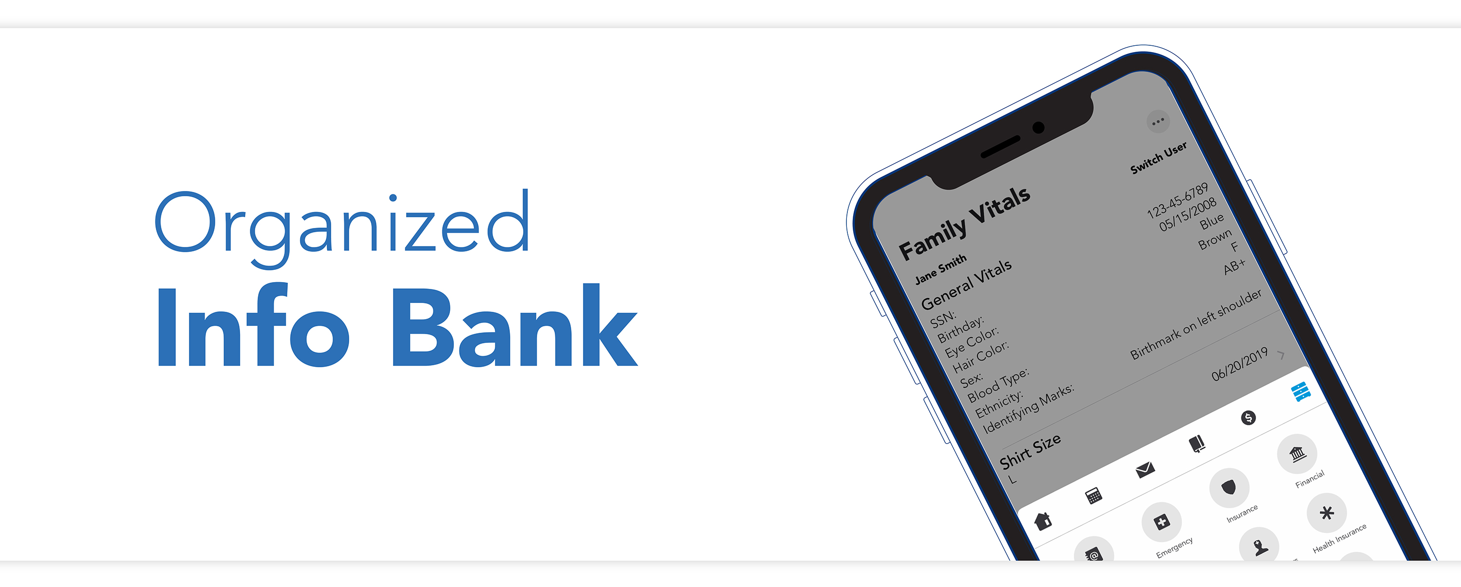 Keep track of medical information, school schedules, contact details, and more in the Info Bank section of the OFW co-parenting app.