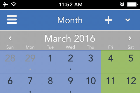 Viewing a 70-30 parenting schedule on the OFW mobile app