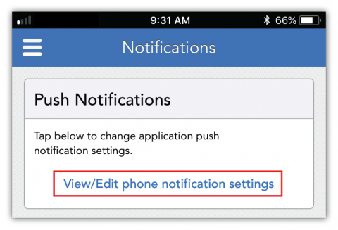 Notifications for OFW activity | Mobile | OurFamilyWizard