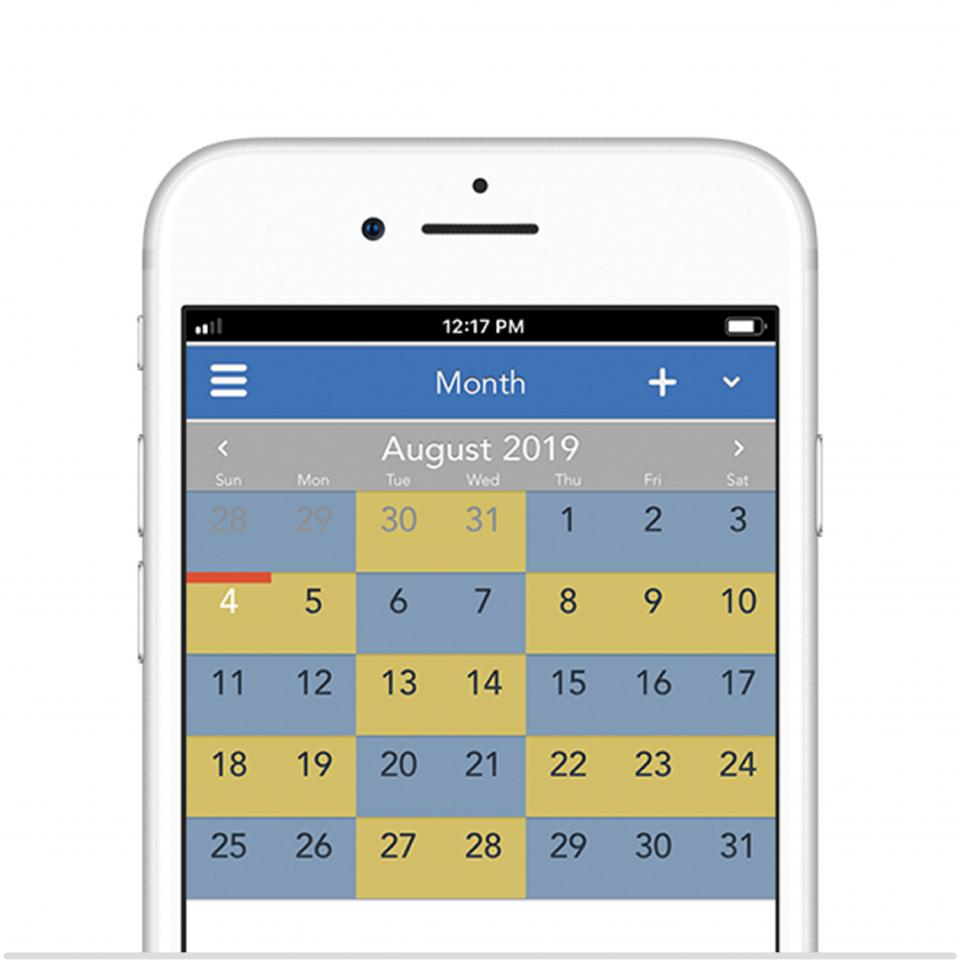 2-2-3 50/50 parenting schedule on the OurFamilyWizard app