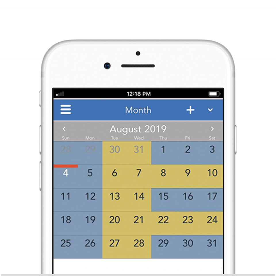 2-2-5-5 50/50 parenting schedule on the OurFamilyWizard app