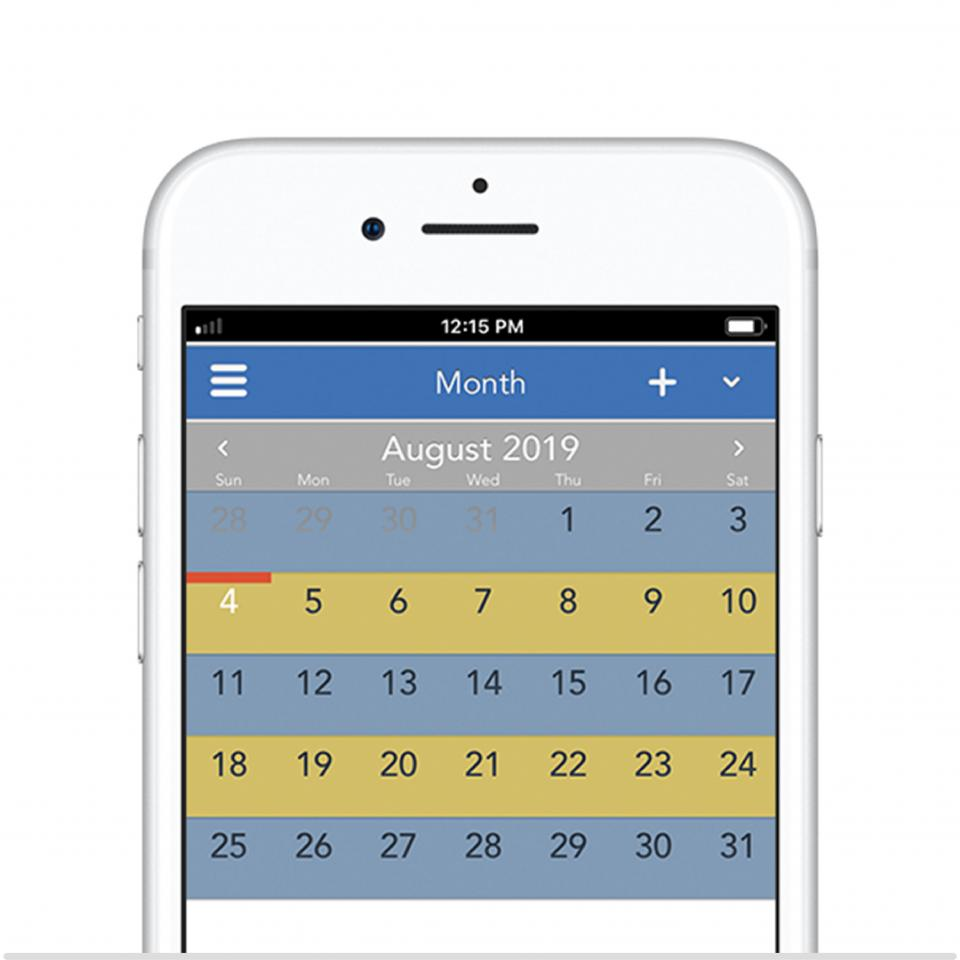 Alternating weeks 50/50 custody schedule on OurFamilyWizard app