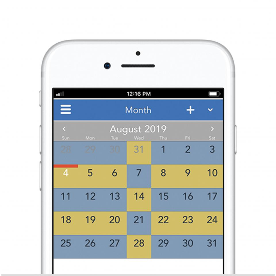 Alternating weeks with a midweek overnight 50/50 parenting schedule on OurFamilyWizard app