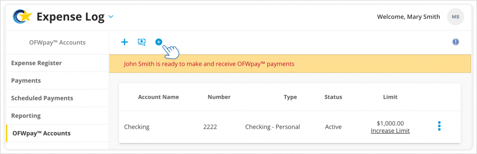 Adding an OFWpay™ Account