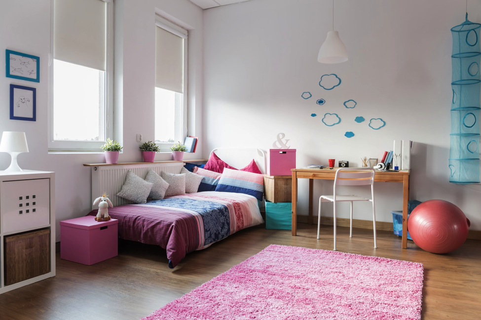 Let your growing children make decisions about how they want to design their bedrooms.